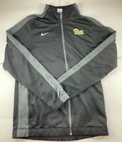 Nike Dri Fit Pullover Track Jacket Mens Large TALL Quarter Zip Black Polyester