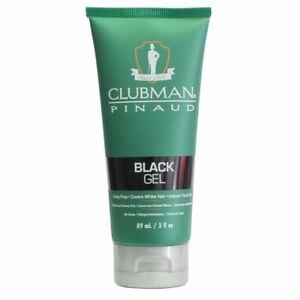 Clubman Pinaud Black Hair, Beard, Moustache Gel 89ml to cover grey hair