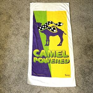 Vintage 90s, 1997 Camel Cigarettes Racing Promo Powered Beach Towel 57.5x29