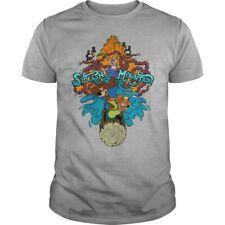 Splash Mountain Shirt Unisex Size US: S-6XL Grey T-Shirt Tee Short Sleeve