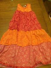 CORNELLOKI GIRLS SUMMER DRESS SZ 3/4 Orange Red Floral