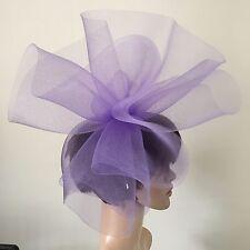 light purple lilac crin fascinator headband headpiece wedding piece ascot bridal