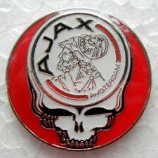 Ajax - Lapel Pin - Grateful Dead Stealie - AJAX - Football - Hat Pin
