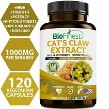 Biofinest Cat's Claw Extract 1000mg (Uncaria tomentosa) - Organic Gluten-Free...