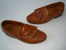 ALLEN EDMONDS NASHUA ENGLISH TAN LEATHER LOAFER TASSEL US 10.5 MADE IN USA