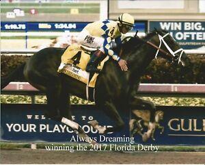 "2017 - ALWAYS DREAMING winning the Florida Derby - 10"" x 8"""
