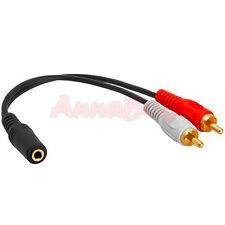 Audio Kabel Adapter Klinkenbuchse Klinke 3,5mm auf 2x Cinch Stecker 0,20m