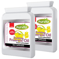 Evening Primrose oil 300 Capsules High Strength 1000mg UK Purvitz
