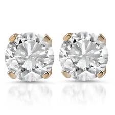 7/8ct Diamond Studs 14K Yellow Gold
