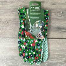 Kingfisher Ladies Gardening Gloves Polka Dot Green Garden Work A552-19