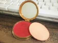 Vintage 1948 Avon Rouge Compact Gold-Tone Bamboo Design