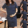 Women Short Sleeve Pregnant Nursing Maternity Summer Dress Breastfeeding Clothes