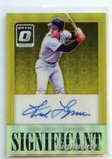 FRED LYNN 2016 DONRUSS OPTIC BASEBALL SIGNIFICANT SIGNATURES AUTO GOLD SP 5/10