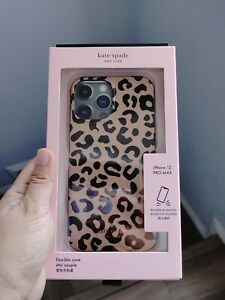 Kate Spade New York Leopard Print Flexible Case iPhone 12 Pro Max