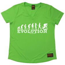 Ladies Cycling Evolution Downhill Breathable tee T SHIRT DRY FIT V NECK T-SHIRT