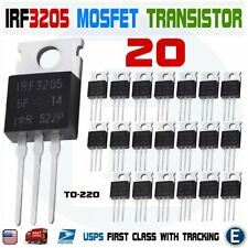 20pcs IRF3205 IR MOSFET N-CHANNEL 55V/110A TO-220 HEXFET Power Transistor IRF