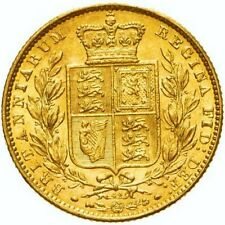 More details for 1869 mint state queen victoria gold sovereign ms 61 die number 42