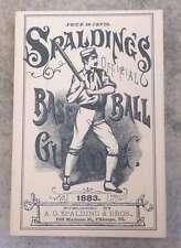 SPALDING MLB BASEBALL GUIDE - 1883 - HORTON REPRINT - MINT