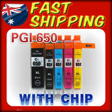 5X Ink Cartriges PGI-650 CLI651 XL for Canon Pixma MG5460 MG6360 IP7260 MX926