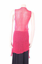 New Coral Aganzi Top Sheer Pink Cardigan Long One Size