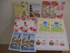 Lot of 12 New Assorted Large Birthday Greeting Cards & Coordinated Envelopes