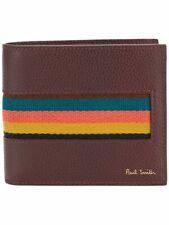 PAUL SMITH Bright Stripe webbing billfold wallet
