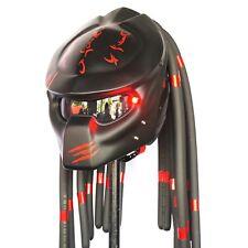 Predator Motorcycle Helmet Red Black Biker Helmets Adult Size Open Face Not DOT