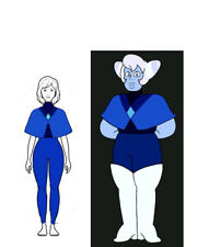 Steven Universe Holly Blue Agate Costume Cosplay Costume Casual Fancy Dress Girl