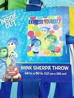 Disney Pixar INSIDE OUT Express Yourself Mink Throw Blanket 46 in x 60 in. New