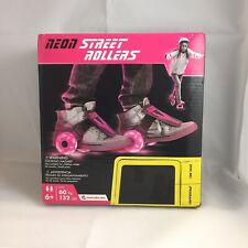 Neon Street Rollers  Light Up Wheels  Clip on skates PINK by Y-Volution NIB