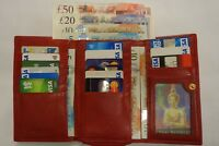 Top Quality Ladies Leather Purse Wallet Large Tri Fold Red Top Brand GOLUNSKI