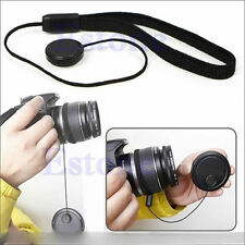 DSLR SLR Lens Cover Cap Holder Keeper String Leash Strap Rope For Canon Nikon