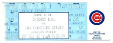 1989 Chicago Cubs San Francisco Giants 7/20 Ticket Les Lancaster Walk Off Double