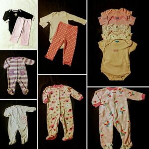 Baby Girl Size 6/9 Months Fall & Winter Sleepers Lot