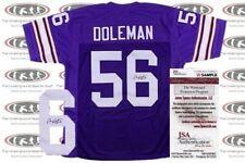 Chris Doleman Signed Custom Pro Style Jersey JSA Witnessed