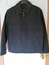 NWT Men's Covington Grey Wool Heavy Winter zip up Coat stylish Size S