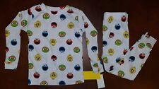 Cookie Monster Elmo Oscar Big Bird Toddler Boy Pajamas 3T New