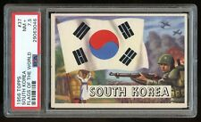 1956 Topps Flags of the World #37 South Korea PSA 7.5 NM+ #29063046