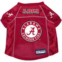 NEW ALABAMA CRIMSON TIDE DOG PET PREMIUM ALTERNATE JERSEY w/NAME TAG ALL SIZES