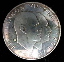 NORVEGE - 25 COURONNES 1970  EN ARGENT