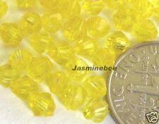Wholesale 1000*4mm Acrylic Plastic BICONES Beads YELLOW