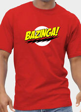 BIG BANG THEORY Inspired BAZINGA T-Shirt. Unisex or Women's Fitted Tee Printed