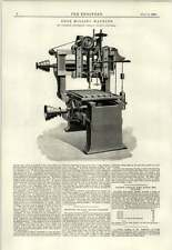1891 Edge Milling Machine Northern Engineering Halifax Engraving