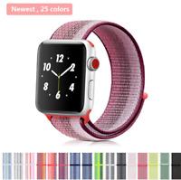 Nylon Woven Sport Loop Bracelet Watch Band Strap For Apple Watch 3/2/1 38mm 42mm