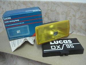 2 NOS LUCAS FT/LR22 DX95 FOG DRIVING LAMP JAGUAR ROVER TRIUMPH MG MINI SUNBEAM