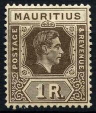 Mauritius 1938-49 SG#260, 1R Grey-Brown KGVI MH Chalk Paper #D29955