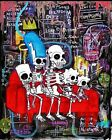 """""""Basquiat Simpsons"""" dark art gothic outsider print signed by Gus Fink"""
