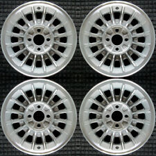 """Ford Mustang  Machined w/ Silver Pockets 15"""" OEM Wheel  Set 1987-1991 F4WY1007A"""