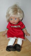 Fisher Price Baby Doll Little Mommy Blonde hair Blue Eyes Holiday party dress
