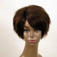Perruque afro femme 100% cheveux naturel châtain ref WHIT 03/6